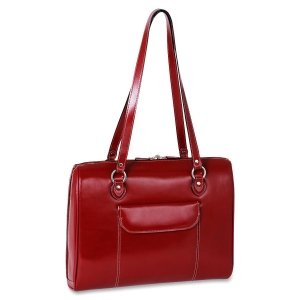 Women's Laptop Briefcase, Leather, 15.4