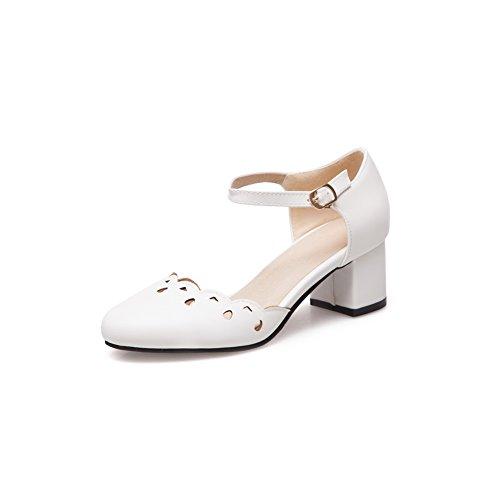 Karierte ASL05006 Weiß BalaMasa Urethansandalen Kleid Stil Damen im Baguette SCX7H