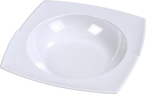 Carlisle 3331802 Rave Melamine Rimmed Display Bowl, 2.5 qt., 3.00 x 14.88 x 14.88'', White (Case of 6) by Carlisle