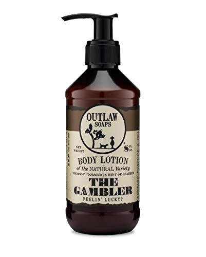 The Gambler Natural Lotion: Smooth Bourbon and Leather Combine for the Luckiest Scent -