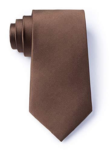 Cocoa Brown Cocoa Brown Silk Extra Long Tie