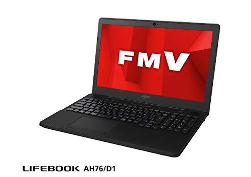 富士通 (FUJITSU) ノートPC LIFEBOOK AH76/D1 FMVA76D1BB シャイニーブラック [Win10 HomeRyzen 715.6インチOffice付きSSD 256GBメモリ 8GB] B07PGTJY5S