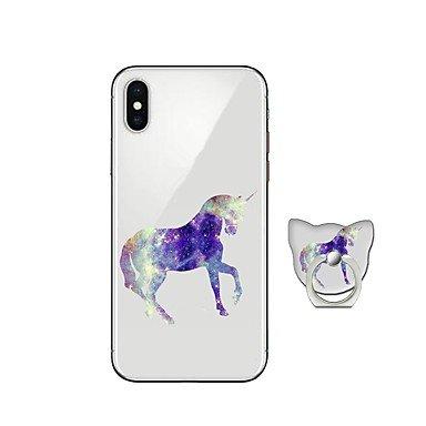Fundas y estuches para teléfonos móviles, Funda Para Apple iPhone X iPhone 8 Plus con Soporte Cubierta Trasera Unicornio Suave TPU para iPhone X iPhone 8 Plus iPhone 8 iPhone 7 ( Modelos Compatibles : IPhone 8 Plus