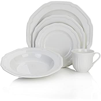 Mikasa Antique White 40-Piece Dinnerware Set Service for 8  sc 1 st  Amazon.com & Amazon.com: Mikasa American Countryside 16-Piece Dinnerware Set ...