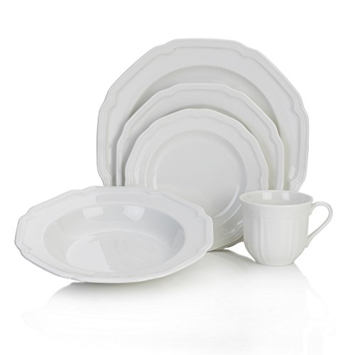 (Mikasa Antique White 40-Piece Dinnerware Set, Service for 8)