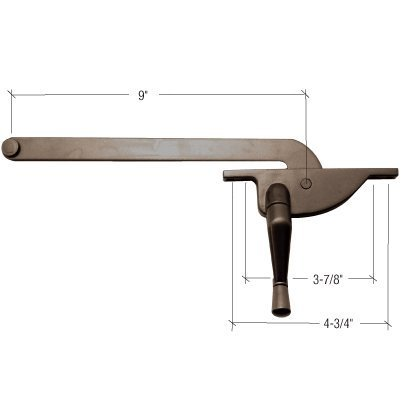 CRL Bronze 9 Right Hand Teardrop Series Casement Window Operator by CR Laurence by CR Laurence