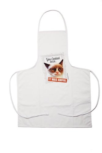 """Ganz Grumpy Cat Apron - """"You Cooked Once It Was Awful"""""""