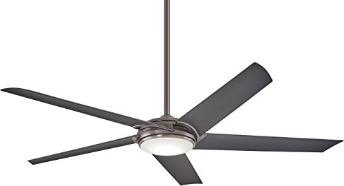 "Minka-Aire F617L-GM Raptor LED 60"" Ceiling Fan with Remote Control, Gun Metal"