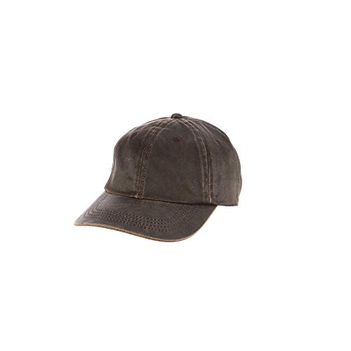 Dorfman Pacific Co. Men's Forever Weathered Cotton Cap, Brown, One Size