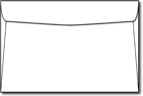 White 6'' x 9'' Envelopes - 100 Envelopes - Desktop Publishing Supplies™ Brand Envelopes