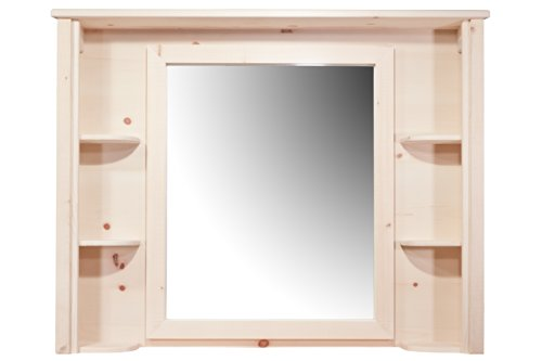 Montana Woodworks Homestead Collection Deluxe Dresser Mirror, Ready to Finish by Montana Woodworks