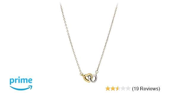 e0836f2b5 Amazon.com: PANDORA United in Love Necklace, Silver/Gold (59051745): Jewelry