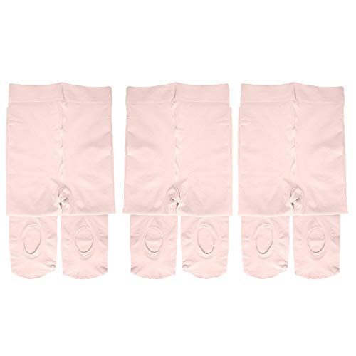 Dancina Pink Tights Future Ballerina First Dance Class Lesson Soft Stockings S (3-5) Ballet Pink x3