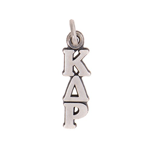 Kappa Delta Rho Sorority Letter Sterling Silver or 14k Gold Lavalier Necklace with Chain KDR (Silver)