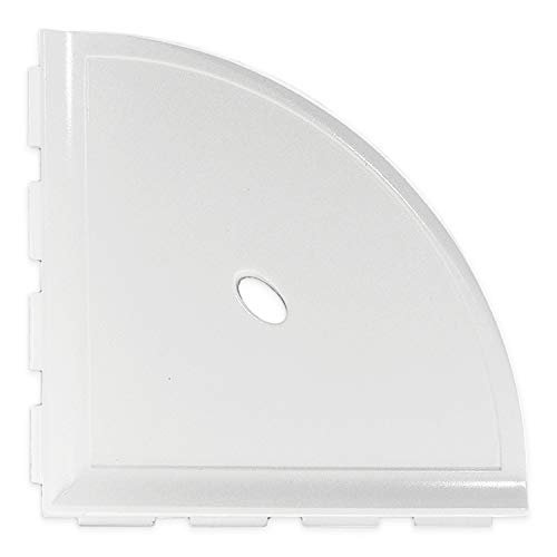 Questech Metro Corner Shelf 10 inch Bathroom Shower Shelf | Wall Mounted Corner Shelf Shower Caddy For New Construction (Bright White -