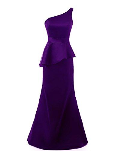 Abito nbsp;formale 2016 Lungo Sera Ysmo Purple Monospalla Da Donna Sirena Abiti Prom 4xZwnTUqY