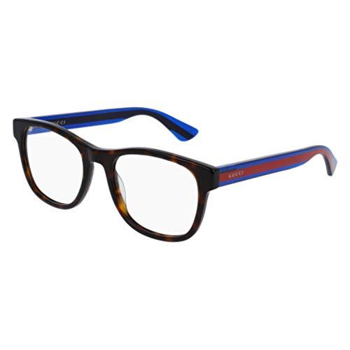 (Gucci GG 0004O 003 Havana Plastic Square Eyeglasses 53mm)