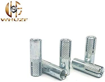 Thread Diameter : 5PCS M8 M6-M16 Galvanized Iron Expansion Screws Expansion Bolts Top Burst Blasting Gecko Flat Burst Screws