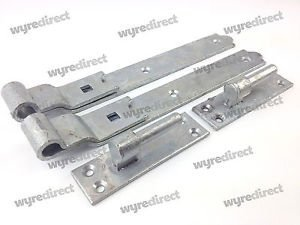 Wyre Direct Gate Hinges Cranked 300mm 12u0026quot; Pair Galvanised Heavy Duty  Hook And Band Stable