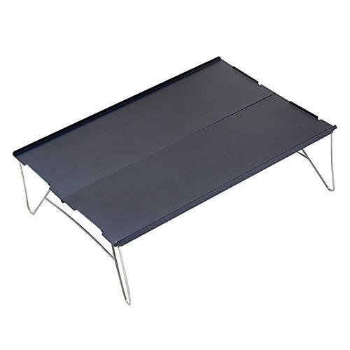 KKDWJ Tabla Plegable de Aluminio, portatil Ultraligero Camping Tabla, con Mesa Plegable y Bolsa de Transporte, para Picnic Barbacoa o Comedor,Negro