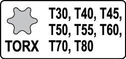 Yato yt-1065/ /nimmt wenig Auswirkungen legt 8pcs Torx 1//2/