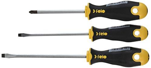 Felo 0715753701 Slotted & Phillips Ergonomic Screwdriver Set