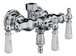 3 Hdl Tub - Elizabethan Classics 3-Handle Claw Foot Tub Diverter Faucet Old Style Spigot