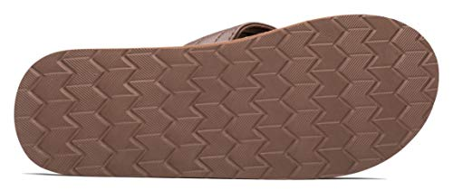 Slippers Brown Sandals Beach Size Extra Summer Bright Flip Arch VIIHAHN Support Men's Large Flops gqwTxP4