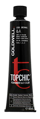 Goldwell Topchic Hair Color Coloration (Tube) 6A Dark Ash Blonde