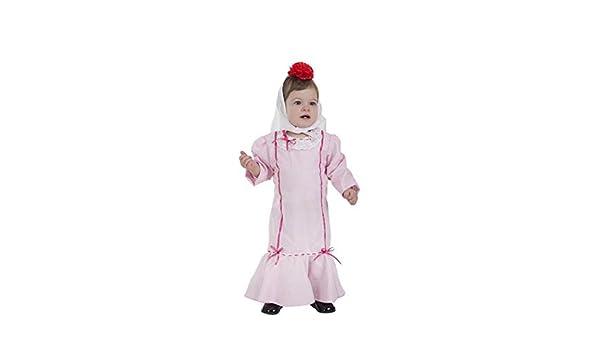 Creaciones Llopis Disfraz de Chulapa Rosa para bebé: Amazon.es: Juguetes y juegos
