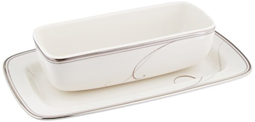 Noritake Platinum Wave Covered Butter