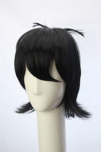 Weave Wigs Black Short Flapper Bob Anime Cosplay Keith Adult Inspired Wig Inspired by Voltron