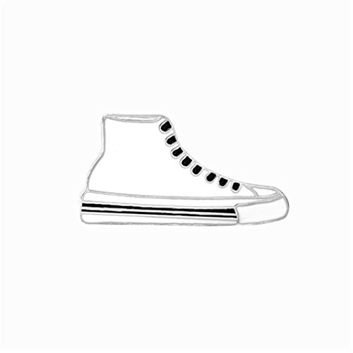 Guoshang Cartoon White Sneakers Shoes Brooch Cute Alloy Enamel Pin Badge for Women Girls Children for Clothing Bag Decor ()