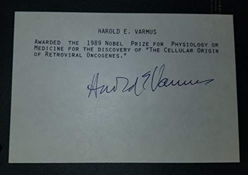 """Nobel Prize in Medicine"" Harold E. Varmus Hand Signed Card JG Autographs COA from Unknown"