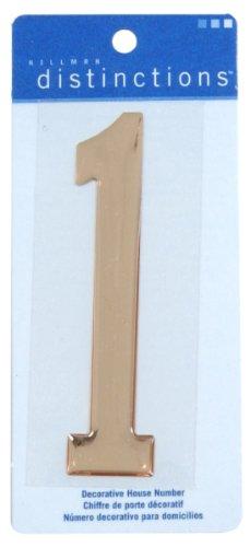 Distinction 848959 Stick-On Domed, Number 1, Gold