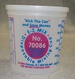 E-Z Mix EMX-70086 2.5-Quart Plastic Mixing Cups, Box Of 25