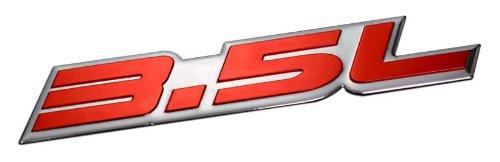 - 3.5L Liter Embossed RED on Highly Polished Silver Real Aluminum Auto Emblem Badge Nameplate for Dodge Intrepid RT SXT Avenger Challenger SE Magnum Charger Chrysler New Yorker LHS Sebring Concorde 300 300M Special Plymouth Prowler Eagle Vision Ford Taurus X SE Sedan Edge F-150 Fusion Sport Flex Explorer Ecoboost Pontiac G6 Lincoln MKX MKZ