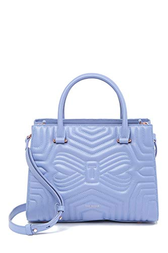 (Ted Baker Quilted Bow Tote Blue Bag)