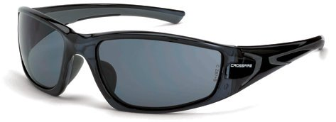 - 12 Pack Crossfire 23421 RPG Safety Glasses Smoke Lens - Crystal Black Frame