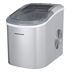 Frigidaire EFIC206-SILVER Ice Maker, 26 lb per day, See Through Lid, Silver