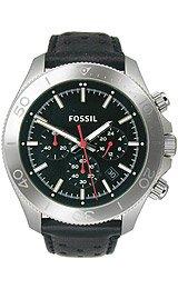 Fossil Retro Traveler Chronograph Leather Watch - Black Ch2859