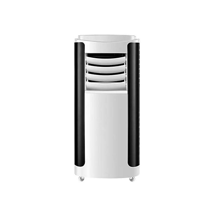 Multifunción 4 en 1: unidad de aire acondicionado portátil con funciones de refrigeración, calefacción, ventilador y deshumidificación, incluida la manguera de escape. Función de enfriamiento y calentamiento: la capacidad de enfriamiento y calentamiento de 12000 BTU, con sistema de filtración de aire, puede mejorar la calidad del aire. Función de deshumidificación: se puede usar independientemente de la función de aire acondicionado; le permite extraer hasta 90 litros de exceso de agua y humedad de la atmósfera todos los días