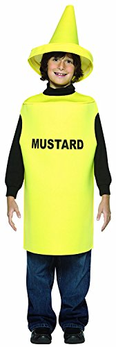 Rasta Imposta Lightweight Mustard Children's Costume, 7-10, (Ketchup Child Costumes)