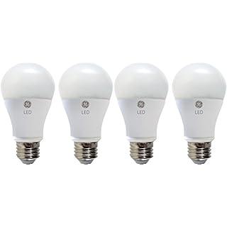 GE Lighting LED Light Bulb, A19, 60-Watt Replacement, Soft White, 4-Pack LED Light Bulbs, Medium Base, Dimmable