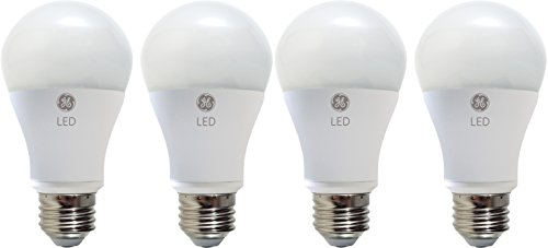 GE Lighting 67615 Dimmable LED A19 Light Bulb with Medium Base, 10-Watt, Soft White, 4-Pack (Medium Lights A19 Base)