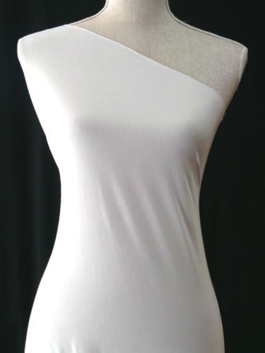 f7ae4b5eadd PLAIN WHITE VISCOSE JERSEY FABRIC STRETCH MATERIAL - PER METRE: Amazon.co.uk:  Kitchen & Home