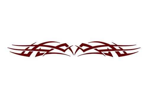 esign #102 Tribal Scallop Windshield Decal Sticker Vinyl Graphic Rear Back Window Banner Tailgate Car Truck Van Boat Motorcycle Go Cart Trailer | 36