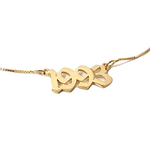 Beleco Jewelry Personalized Old English Number Necklace Custom Your Number Pendant with Old English Font Style - Personalized Numbers Jewelry