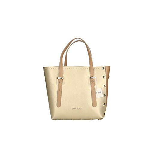 POP Or à Cm Boue Boue Italy cuir Sac Bags main en 23x23x12 femme in Impression Made Saffiano véritable UBU6qgZxcw