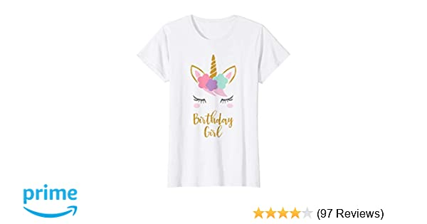 Amazon Unicorn Birthday T Shirt Gift Outfit Clothing